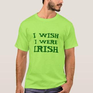 おもしろい私は私がアイルランドのライムグリーンのティーだったことを望みます Tシャツ