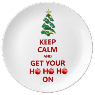 おもしろい穏やかなクリスマスの装飾的なギフトのプレートを飼って下さい 磁器プレート
