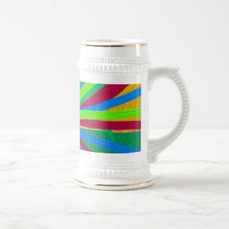 おもしろい色のペンキの落書きは一点に集中するPinの車輪を並べます ビールジョッキ