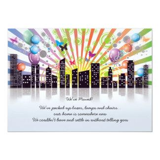 おもしろい都市-移動発表 12.7 X 17.8 インビテーションカード