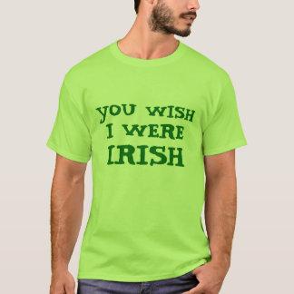 おもしろい願い私はアイルランドのライムグリーンのティーでした Tシャツ