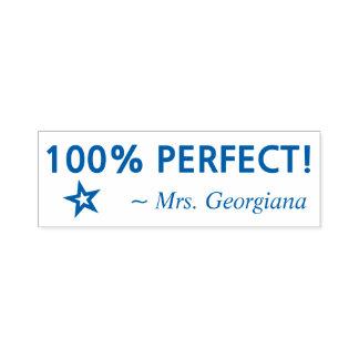 """おもしろい""""完全な100%!"""" 教育者のゴム印 セルフインキングスタンプ"""