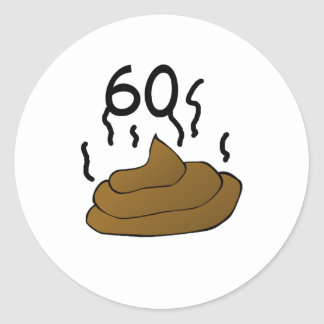 """おもしろい、""""60の悪臭""""の第60誕生日のデザイン ラウンドシール"""