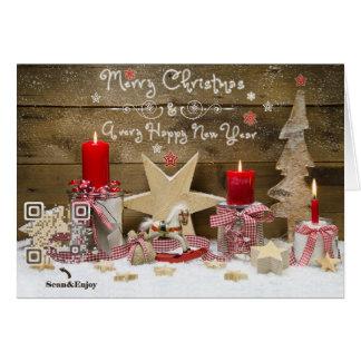 おもしろいQRコードクリスマスツリーの音楽的なビデオカード カード