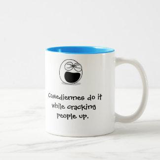 おもしろマグカップ、喜劇女優 ツートーンマグカップ
