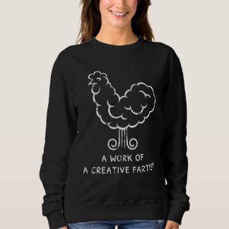 おもしろTシャツは熱狂するな屁の鶏のグラフィックを冷却します スウェットシャツ