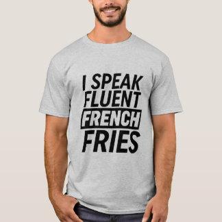 おもしろTシャツIは流暢なフライドポテトを話します Tシャツ