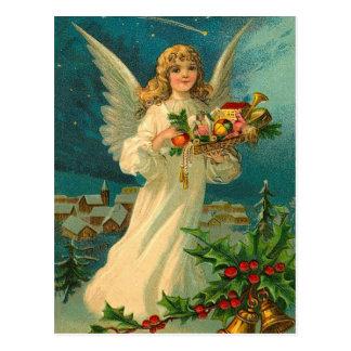 おもちゃとのヴィンテージのクリスマスの天使 ポストカード