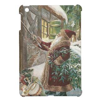 おもちゃのコテージのサンタクロースのクリスマスツリー袋 iPad MINIケース