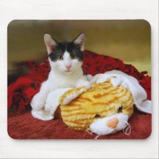 おもちゃのトラのマウスパッドの子ネコ マウスパッド