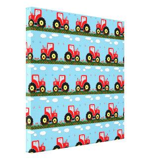 おもちゃのトラクターパターン キャンバスプリント