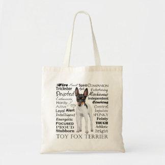 おもちゃのフォックステリア犬の特性のトートバック トートバッグ