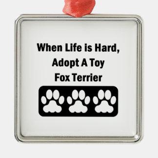 おもちゃのフォックステリア犬を採用して下さい メタルオーナメント
