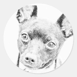 おもちゃのフォックステリア犬 ラウンドシール