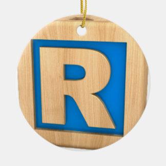 おもちゃのブロックR セラミックオーナメント