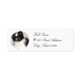 おもちゃのポメラニア犬犬の郵送物のラベル ラベル