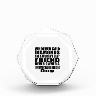 おもちゃのマンチェスターテリア犬の親友のデザイン 表彰盾