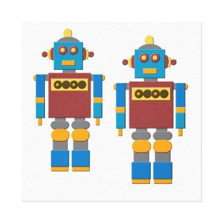 おもちゃのロボット キャンバスプリント
