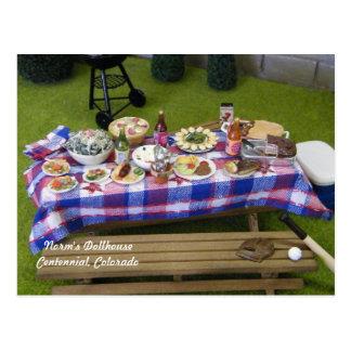おもちゃの家の夏期のピクニック ポストカード
