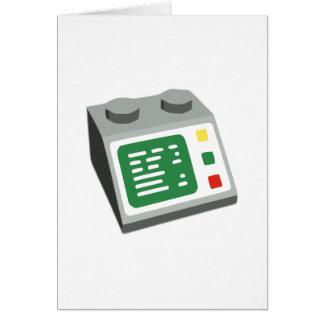 おもちゃの煉瓦コンピュータコンソール カード