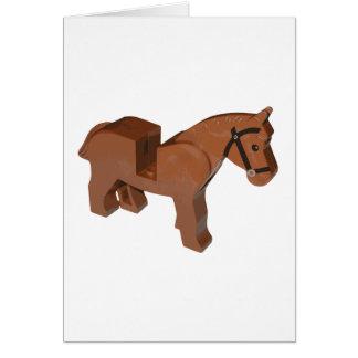 おもちゃの煉瓦馬 カード