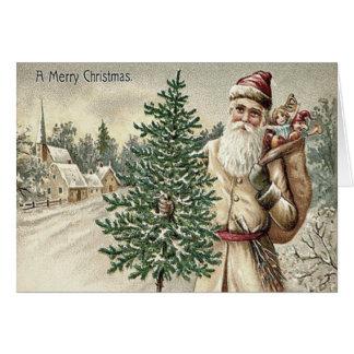 おもちゃ教会のサンタクロースのクリスマスツリー袋 カード