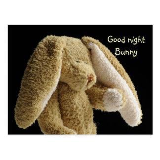 おやすみなさいのバニー ポストカード