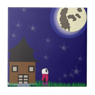 おやすみなさいのパンダのタイル タイル