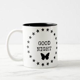 おやすみなさいの星明かりのマグ ツートーンマグカップ