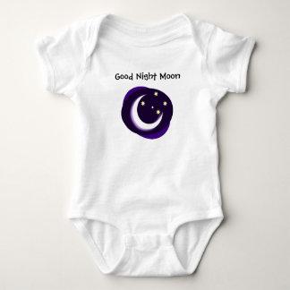 おやすみなさいの月 ベビーボディスーツ
