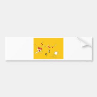 おやすみなさいの花のテーブル バンパーステッカー