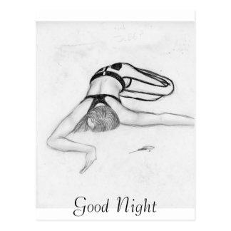 おやすみなさい ポストカード