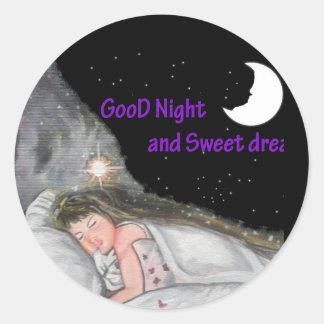 おやすみなさい ラウンドシール