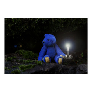 おやすみなさい、青いくま ポスター
