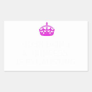 おやっ王女であることは排出しています 長方形シール
