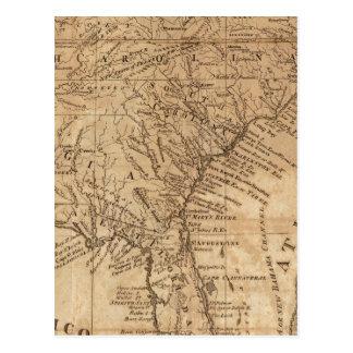 およびノースカロライナバージニア州の地図 ポストカード