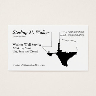 および石油開発の装備テキサス州 名刺