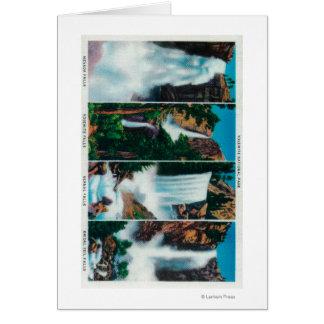 、および花嫁のベールの滝ネバダ、ヨセミテ、春 グリーティングカード