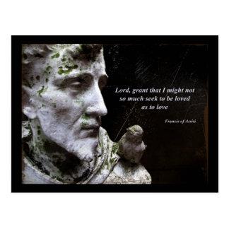 および鳥の引用文聖者アッシジのフランチェスコ ポストカード