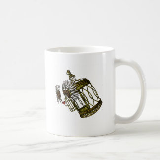 おりに入れられたハート コーヒーマグカップ