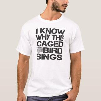 おりに入れられた鳥 Tシャツ