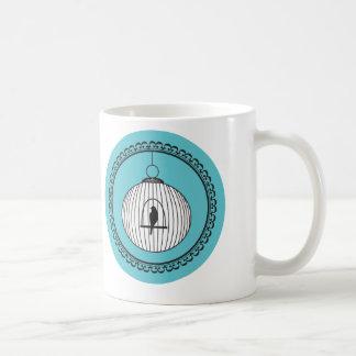 おりのイラストレーションの芸術の円の鳥 コーヒーマグカップ