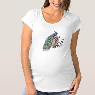 おりのヴィンテージの孔雀 マタニティTシャツ