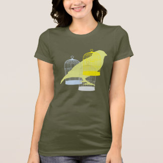 おりを持つ鳥 Tシャツ