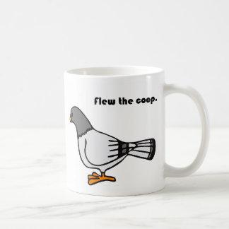 おり灰色ハト漫画を飛ばしました コーヒーマグカップ