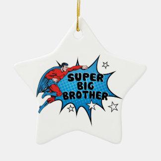 お兄さんになっているスーパーヒーロー セラミックオーナメント
