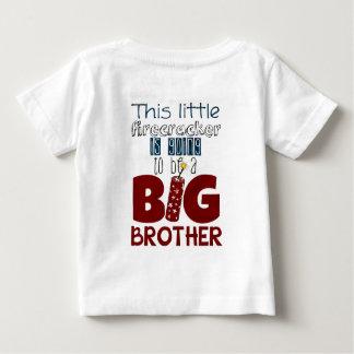 お兄さんのPreganancyの発表のワイシャツ ベビーTシャツ