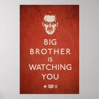 お兄さんはプロパガンダポスター見ています ポスター
