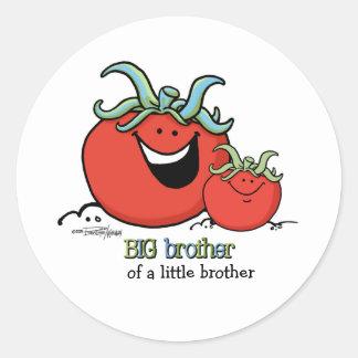お兄さん-小さい兄弟姉妹-トマト ラウンドシール