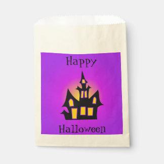 お化け屋敷のカスタマイズ可能な紫色 フェイバーバッグ